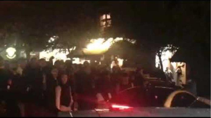 Βιντεο πλατεια Αγιου Γεωργιου κουβαδες νερο διαμαρτυριες