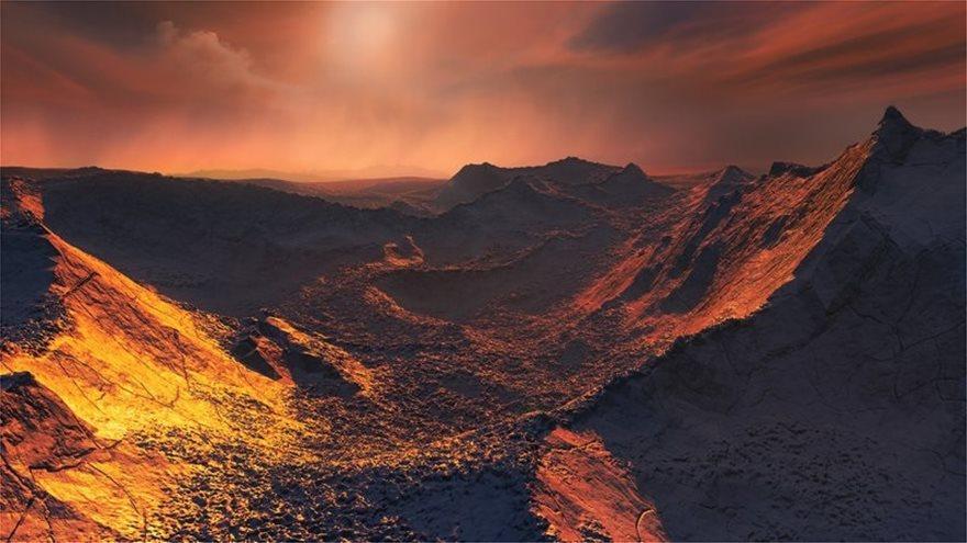 Εξωπλανητης_Barnards_b__καλλιτεχνικη_απεικονιση__πηγη_ESO-M__Kornmesser