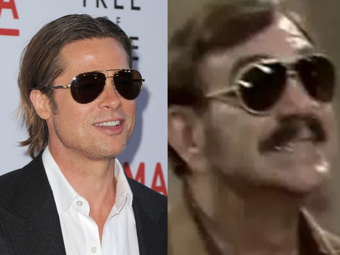Quem disse que os óculos estilo aviador são uma tendência atual usada por descolados como Brad Pitt? Taí o exagerado personagem Sinhozinho Malta, interpret...