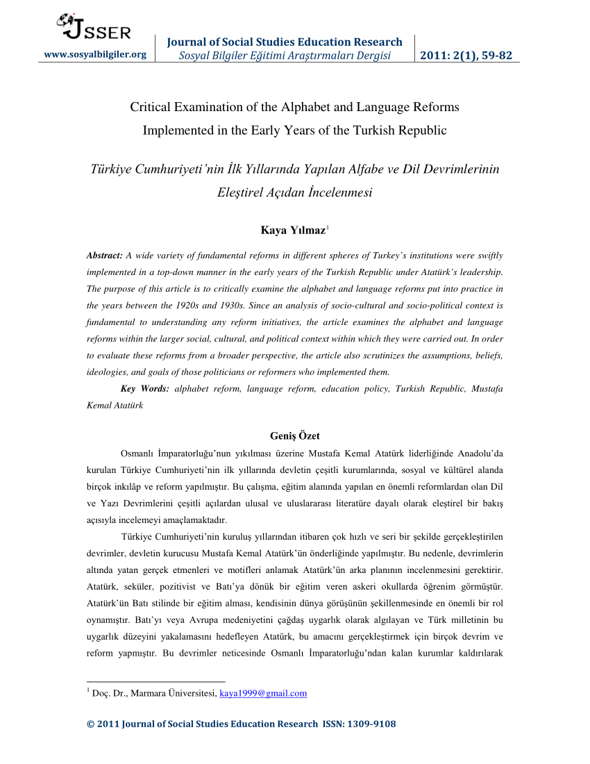 Pdf Critical Examination Of The Alphabet And Language Reforms