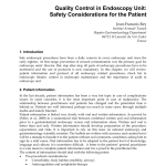 Pdf Quality Control In Endoscopy Unit Safety Considerations For The Patient