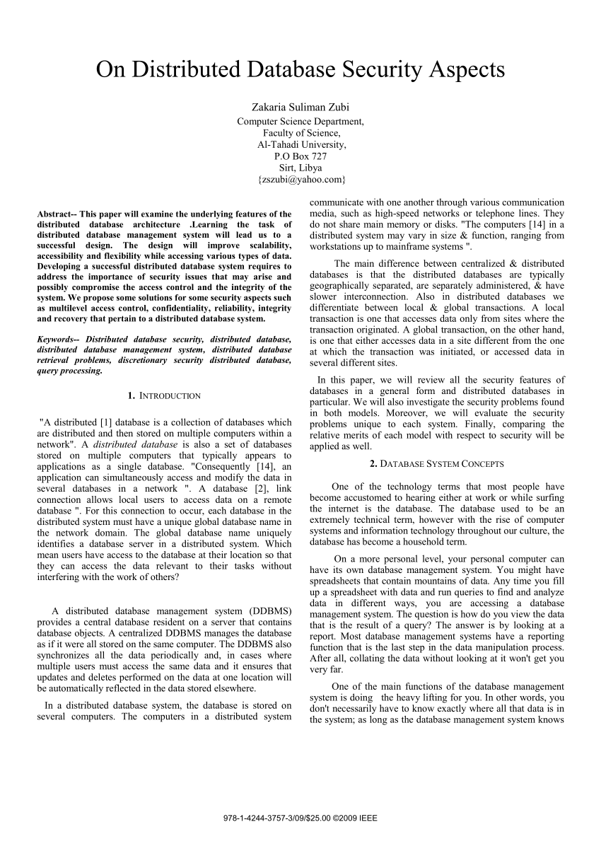 Paper Pdf Research Database Security