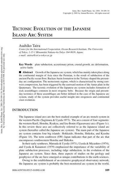(PDF) Tectonic evolution of the Japanese island arc system
