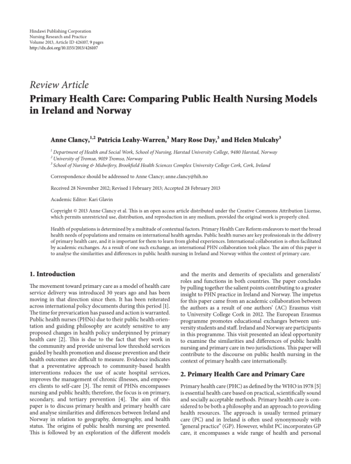 pdf) the cost-effectiveness of primary care services in developing