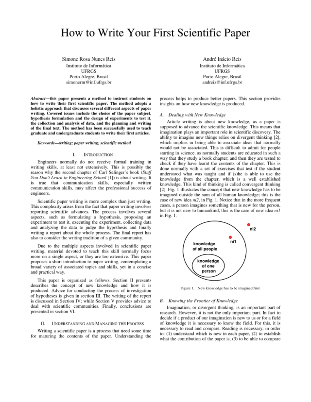 PDF) How to Write Your First Scientific Paper