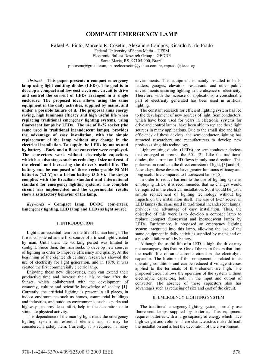 pdf compact emergency lamp