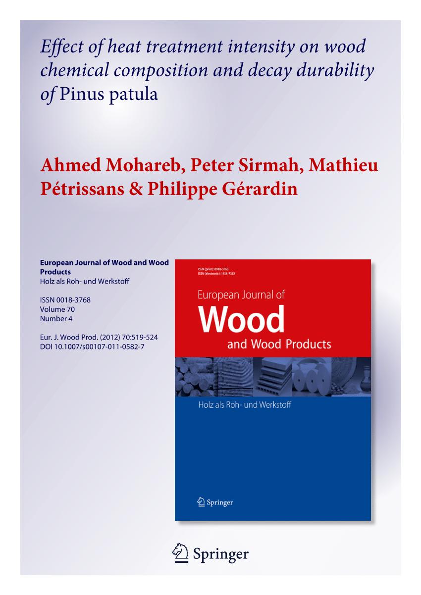 Thermische Modifikation von Holz und deren Einfluß auf ausgewählte