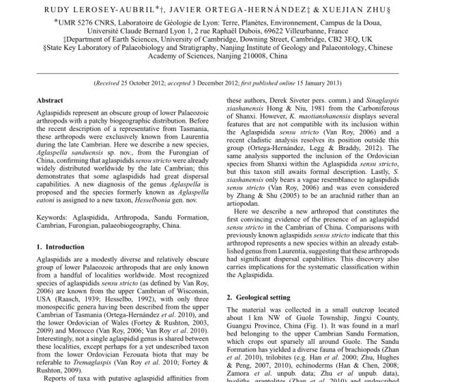 A E Aglaspidids From The Upper Cambrian Trempealeau Formation Download Scientific Diagram