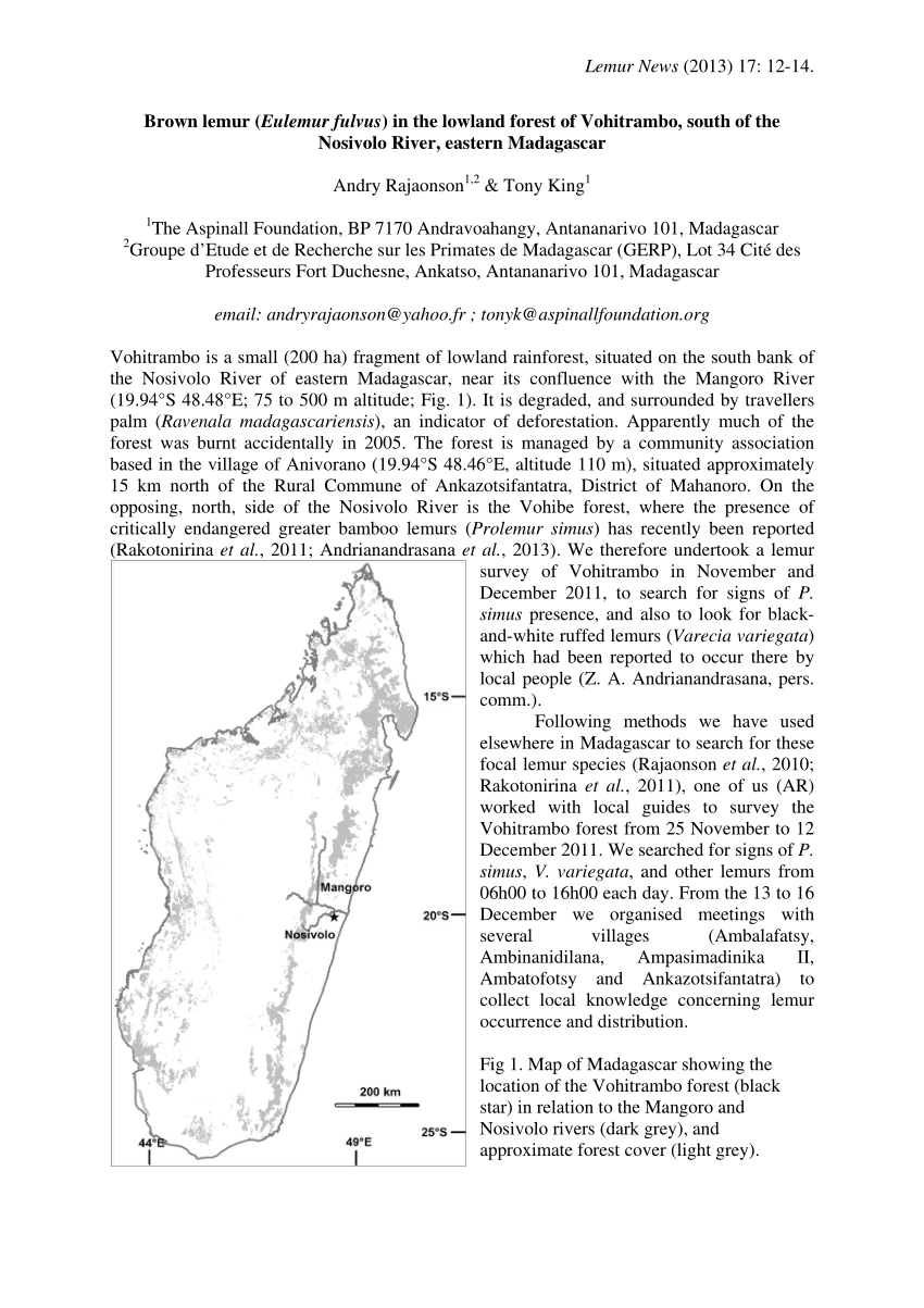 pdf vegetation structure of forest fragments in the southern sambirano domain northwest madagascar