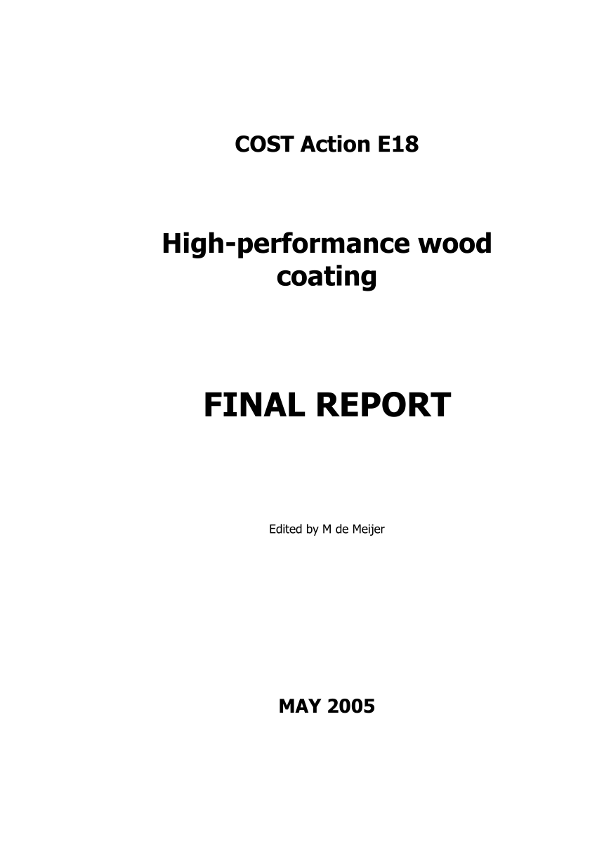 cost action e18 high performance wood