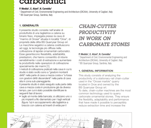 Pdf Chain Cutter Productivity In Work On Carbonate Stones