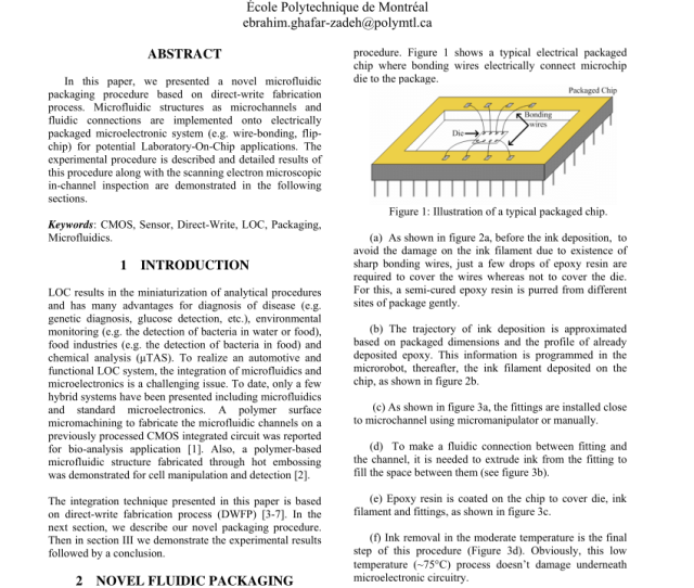 Fluidic Packaging Procedure From Step A To F A First Epoxy Resin Download Scientific Diagram