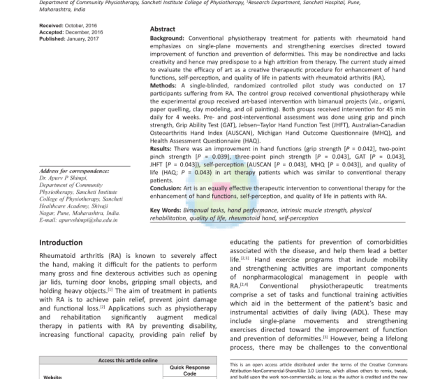 Pdf Task Oriented Training With Computer Gaming In People With Rheumatoid Arthritisor Osteoarthritis Of The Hand Study Protocol Of A Randomized