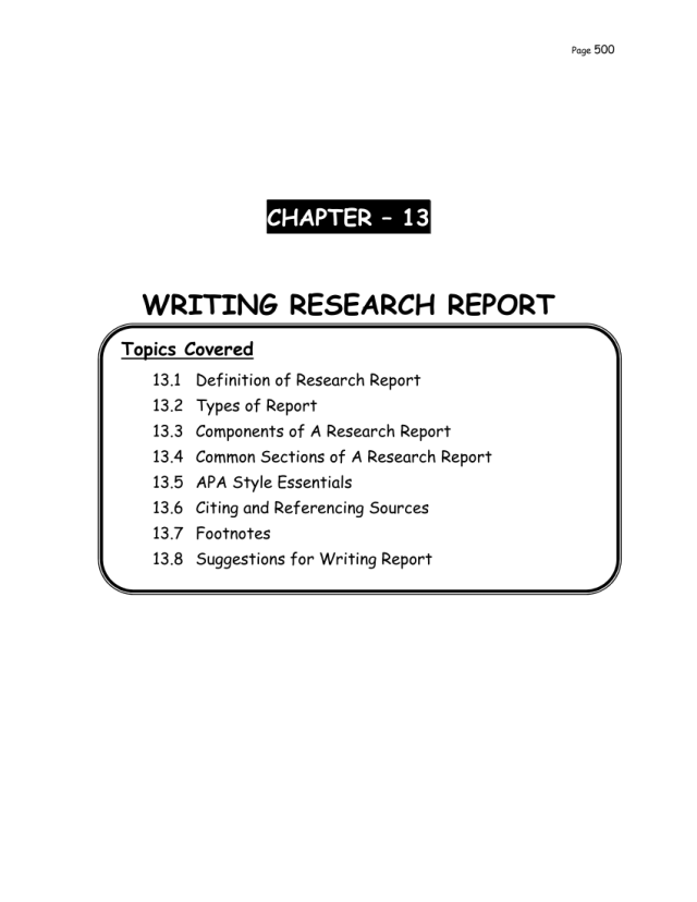 PDF) WRITING RESEARCH REPORT