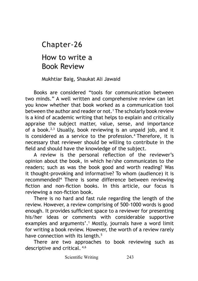 PDF) How to write a Book Review