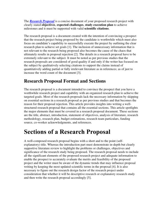 PDF) Research Proposal Writing Study