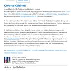 Pdf Corona Kabinett In Gabler Wirtschaftslexikon Online 5 2020