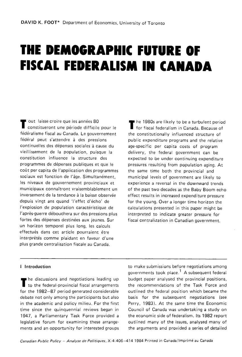 What Is Federalism In Canada Cooperative Federalism