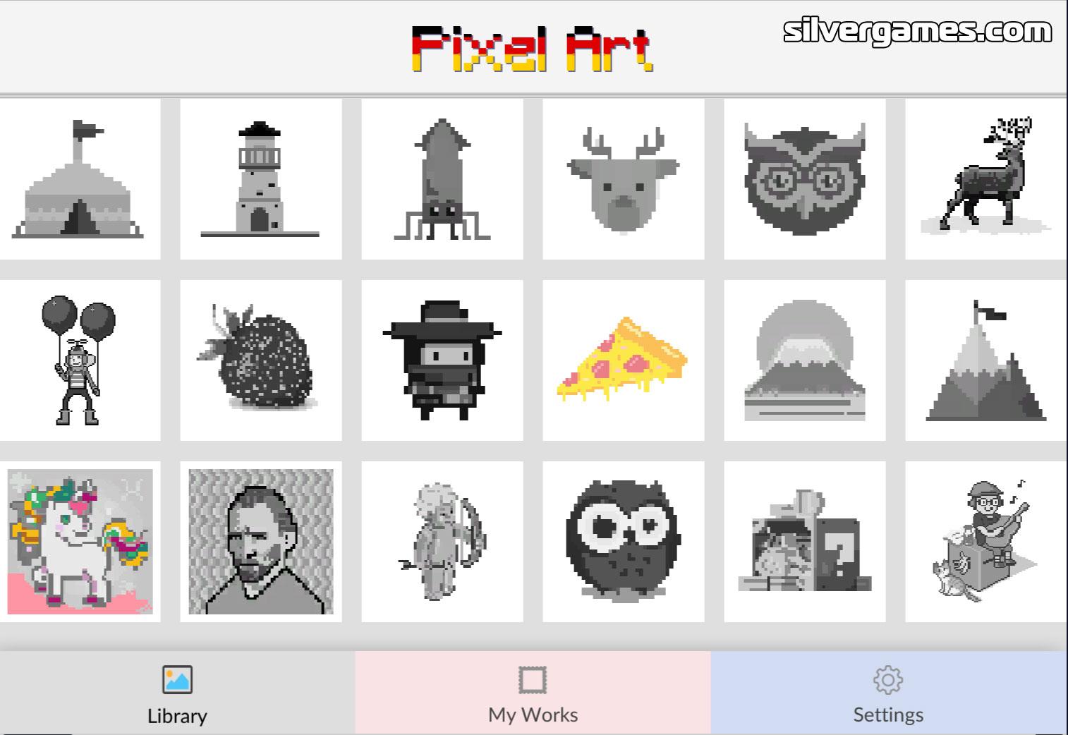 Pixel Art Jeux Gratuits En Ligne Sur Silvergames Com