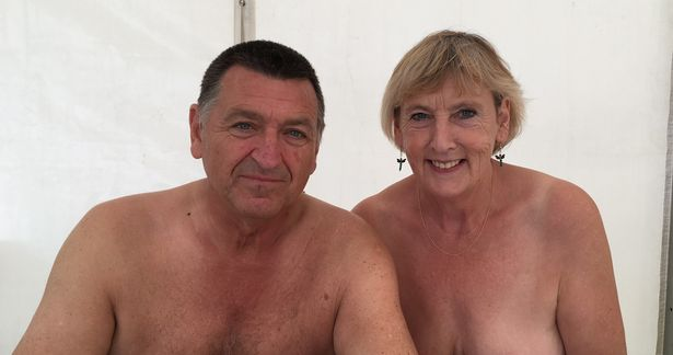 Nigel and Carol Taylor from Bridgwater are volunteering at this year's Nudefest
