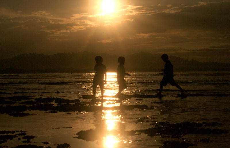 Kids Playing - Puerto Viejo, Limon