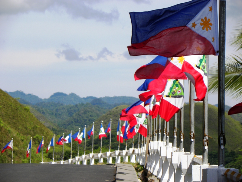 The Philippine Flag - Bohol, Bohol