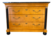20th Century Empire Thomasville Grand Classics Marble Top Chest Of Drawers