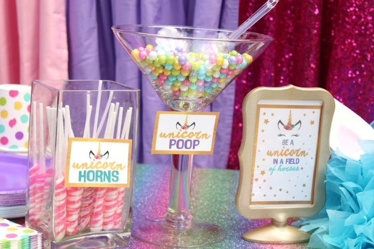 Unicorn Birthday Party Ideas With Free Printable Download