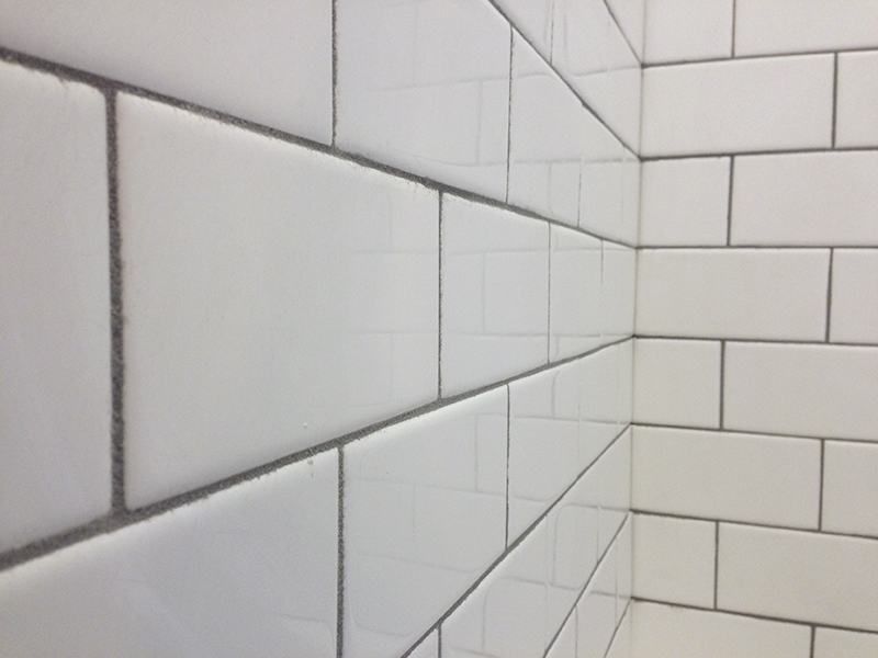 installing subway tile in our victorian