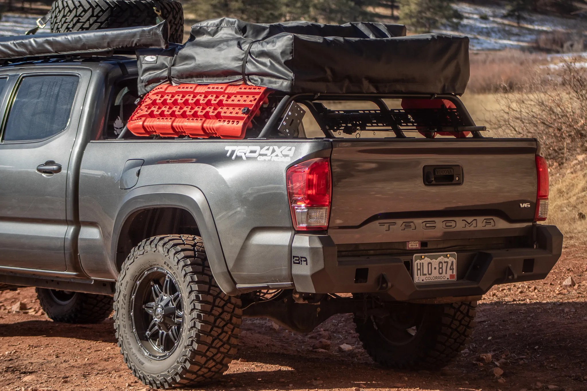 2005 toyota tacoma mid height bed rack