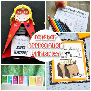 17 Teacher Appreciation Printables - Happiness Is Homemade