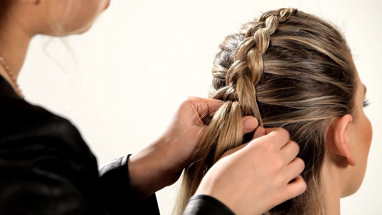 How To Do A Reverse French Braid Braid Tutorials YouTube