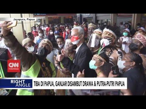 Tiba di Papua, Ganjar Disambut Drawa & Putra Putri Papua