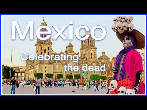 【4K】WALK Mexico City 4k video ZOCALO Day of the Dead TRAVEL