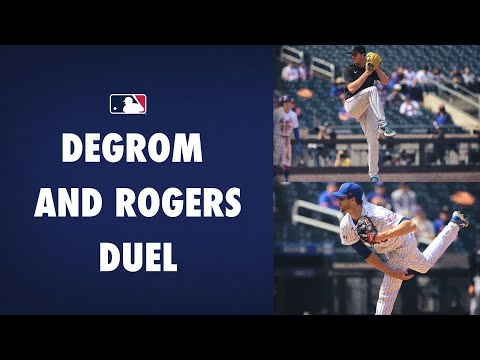 Jacob deGrom and Trevor Rogers combine for 24 Ks in an old fashioned pitchers' duel!
