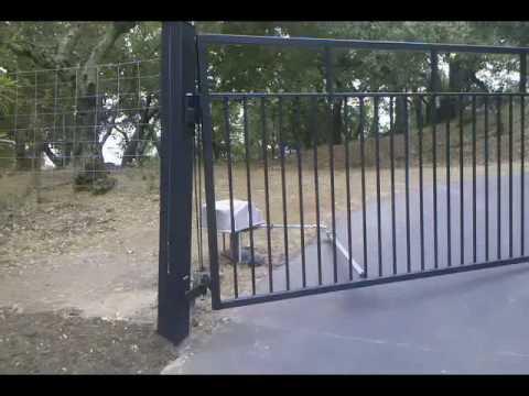 Uphill Swinging Automatic Gate Youtube