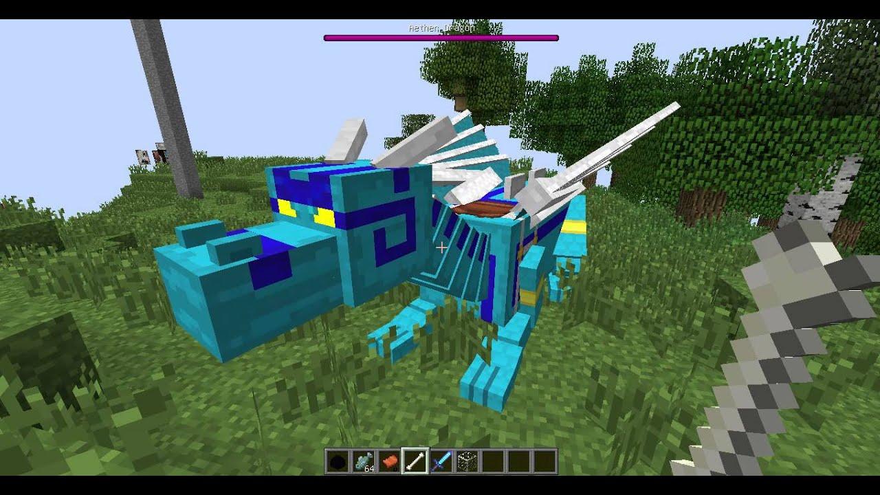 Minecraft Mod Dragon Mount 152 YouTube