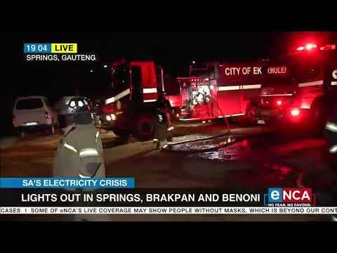 Lights out in Springs, Brakpan, and Benoni