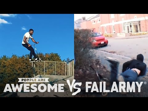 Wins VS. Fails in Cyr Wheeling, Kite Boarding, Parkour & More | People Are Awesome VS. FailArmy