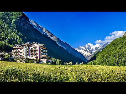 Bellevue Hotel & Spa, Aosta Valley (Italian Alps): full tour (SPECTACULAR location)