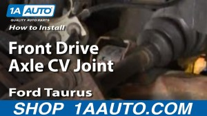 How To Install Replace Front Drive Axle CV Joint Ford Taurus 9607 1AAuto  YouTube