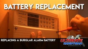 Replacing a burglar alarm battery  YouTube