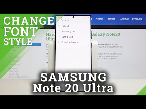 How to Change Font Style in SAMSUNG Galaxy Note 20 Ultra – Font Customization