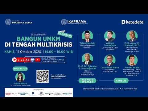 """Seminar Publik Daring """"Bangun UMKM di Tengah Multikrisis"""""""