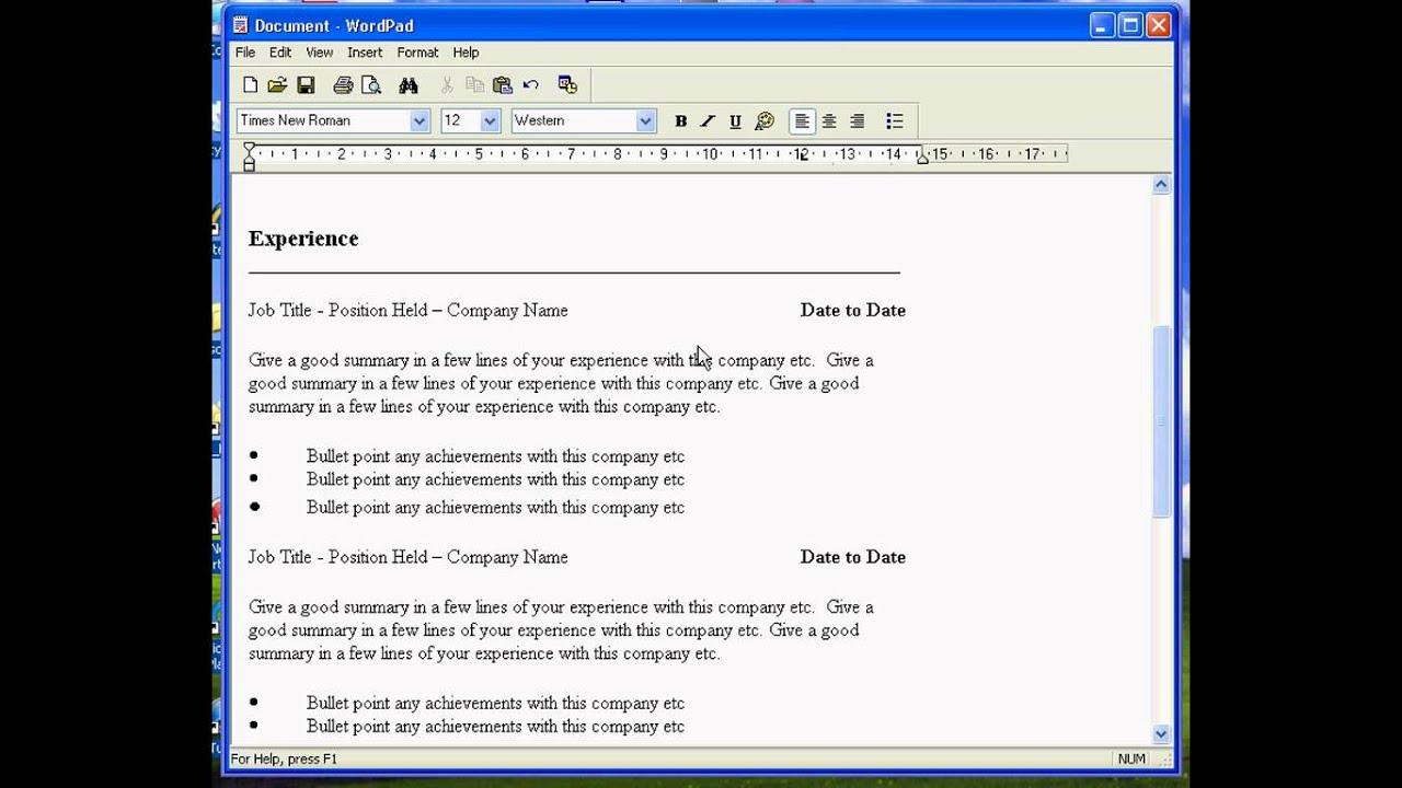 Resume writing umn