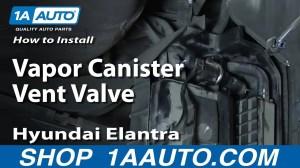 How To Install Replace Vapor Canister Vent Valve 200106 Hyundai Elantra  YouTube