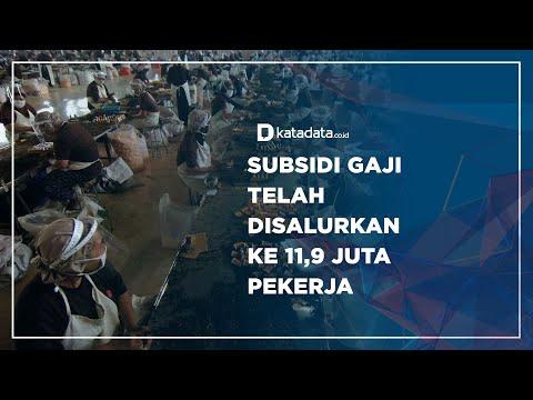 Subsidi Gaji Telah Disalurkan ke 11,9 Juta Pekerja | Katadata Indonesia