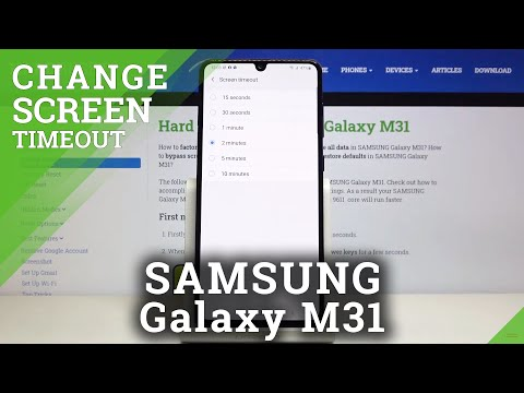 How to Set Screen Timeout in SAMSUNG Galaxy M31 – Find Blackout Settings