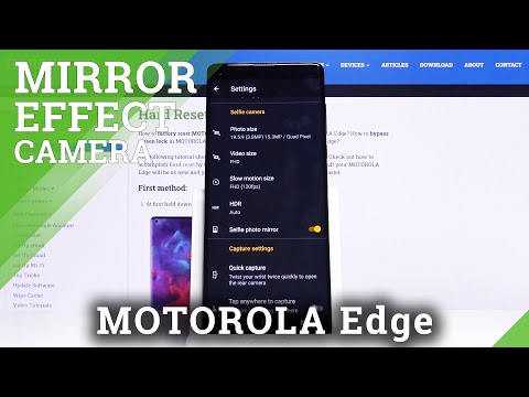 How to Enable Camera Mirror Effect in Motorola Edge