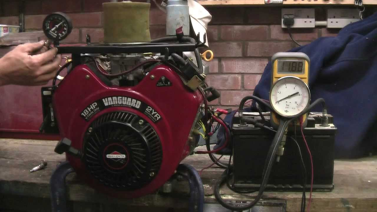 Briggs Amp Stratton V Twin Vanguard 18hp Engine Pressure